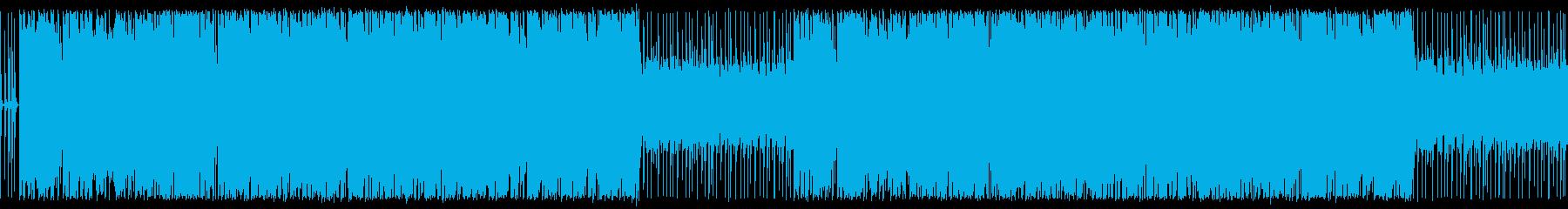 ほのぼのギター入りのbgmの再生済みの波形