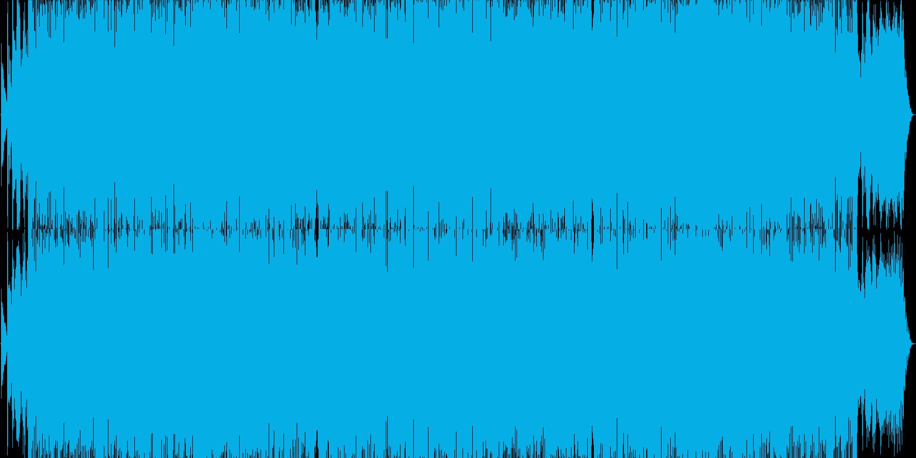 アシッドジャズ・ハウス調のポップスの再生済みの波形