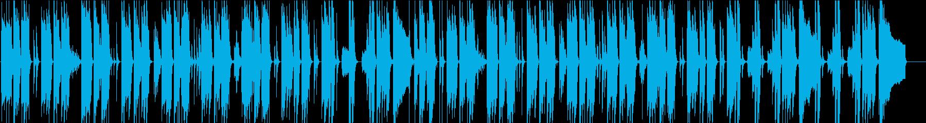 コミカルでほのぼのした日常 会話シーンの再生済みの波形