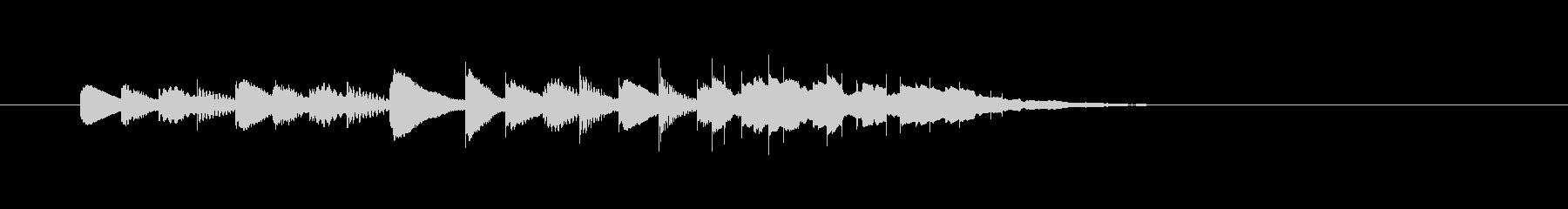 ピポパポン・・(明るく楽しい木琴音)の未再生の波形
