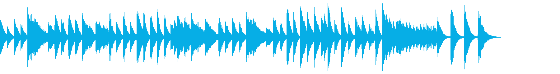 跳躍する音階の元気で可愛いピアノジングルの再生済みの波形