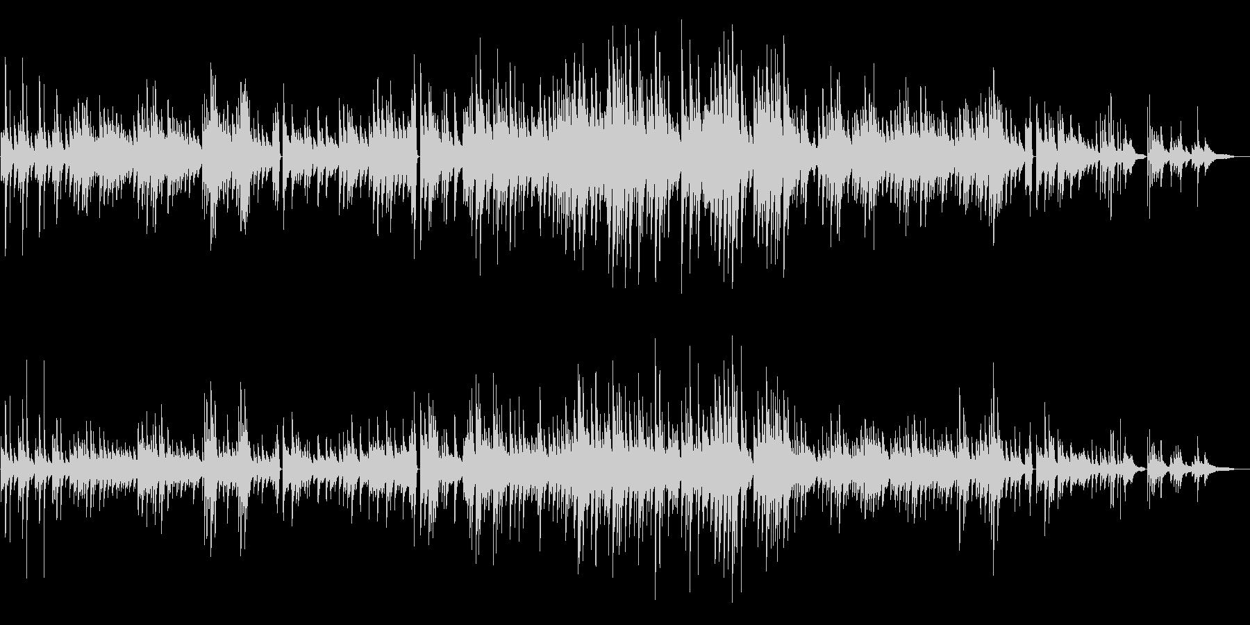 童謡「大きな古時計」チルピアノアレンジの未再生の波形