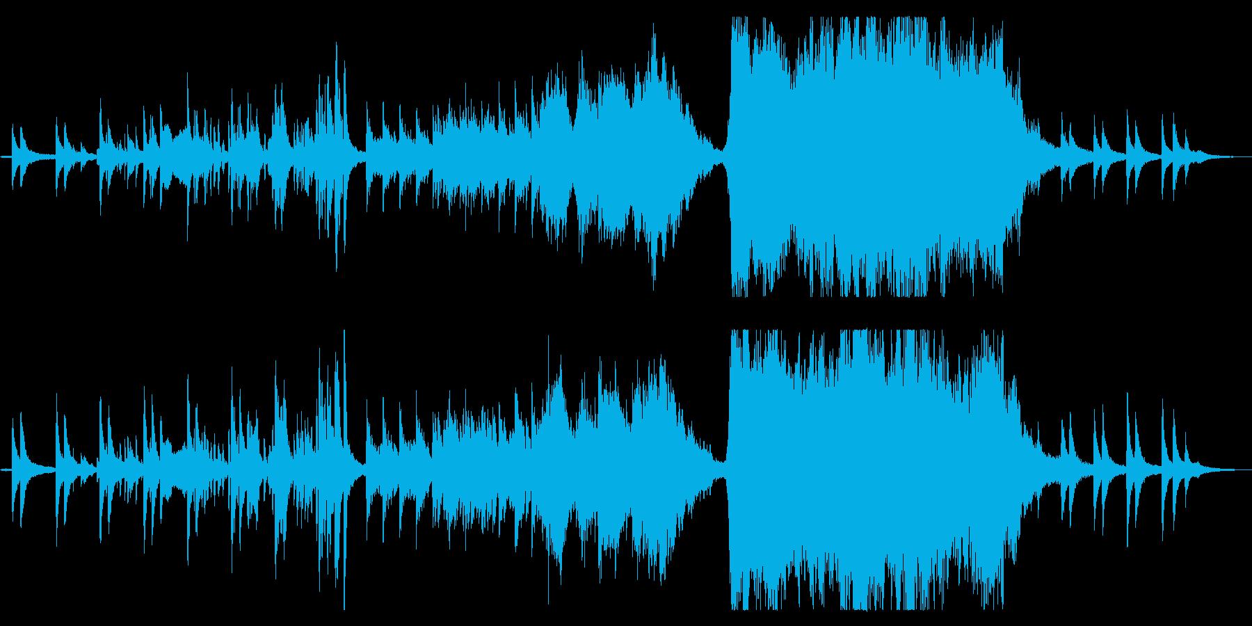 幻想的で壮大なピアノ協奏曲の再生済みの波形