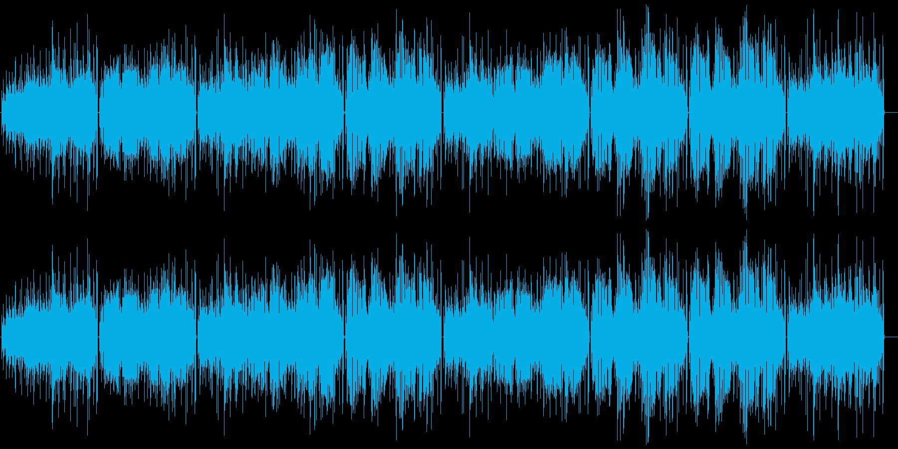 アコースティックギター弾き語りの再生済みの波形