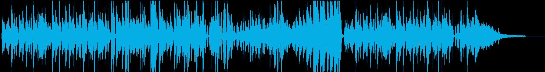 憂いのあるピアノ曲の再生済みの波形