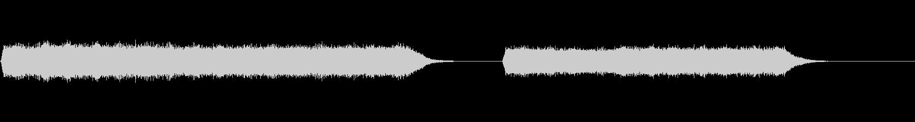 レトロロケットの未再生の波形