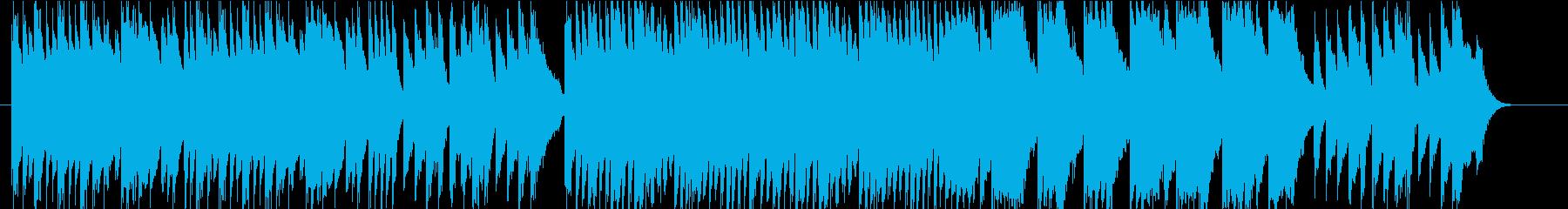クラシック調のピアノBGMの再生済みの波形