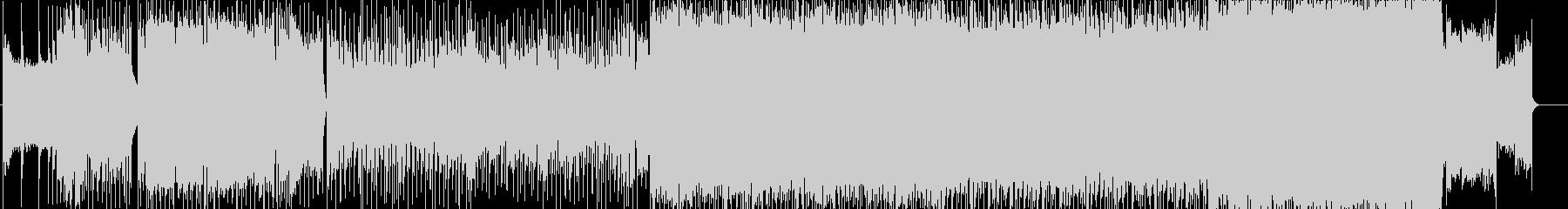 激しいオルタナティブロックの未再生の波形