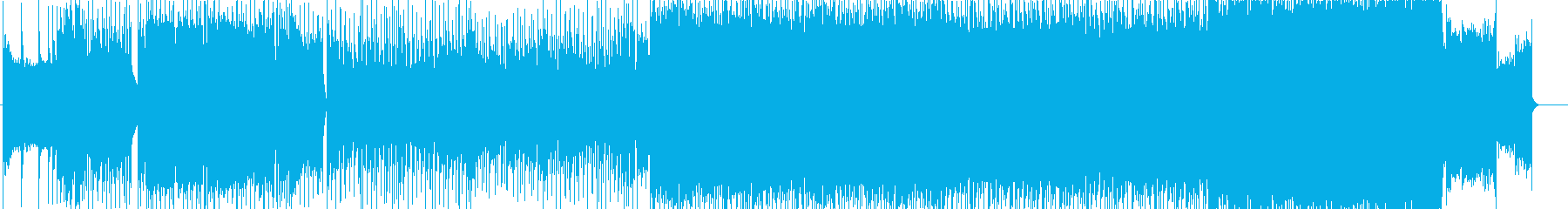 激しいオルタナティブロックの再生済みの波形