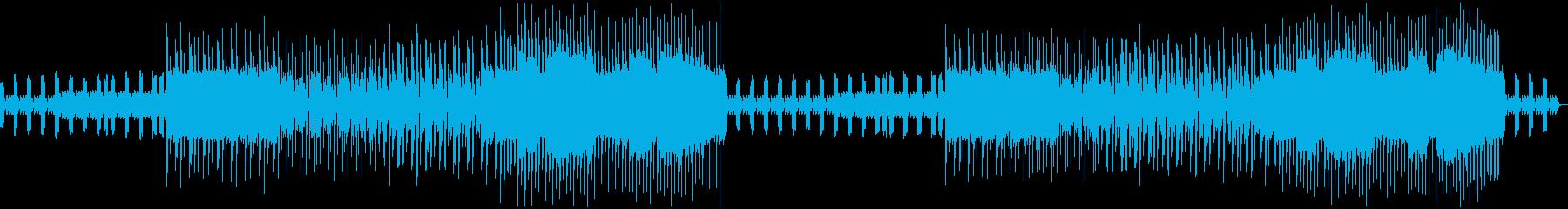 耳に残るピコピコ音のゲーム向きのBGMの再生済みの波形