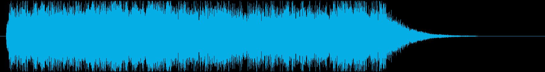 壮大な死を暗示するジングルの再生済みの波形