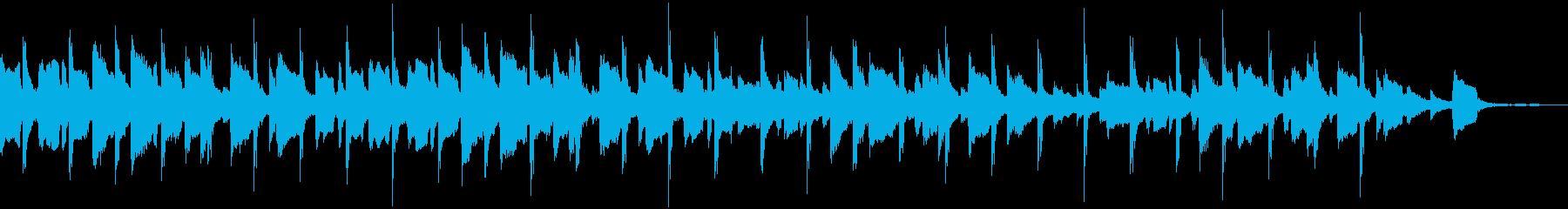 ウクレレリコーダーの明るい楽曲ドラム無短の再生済みの波形