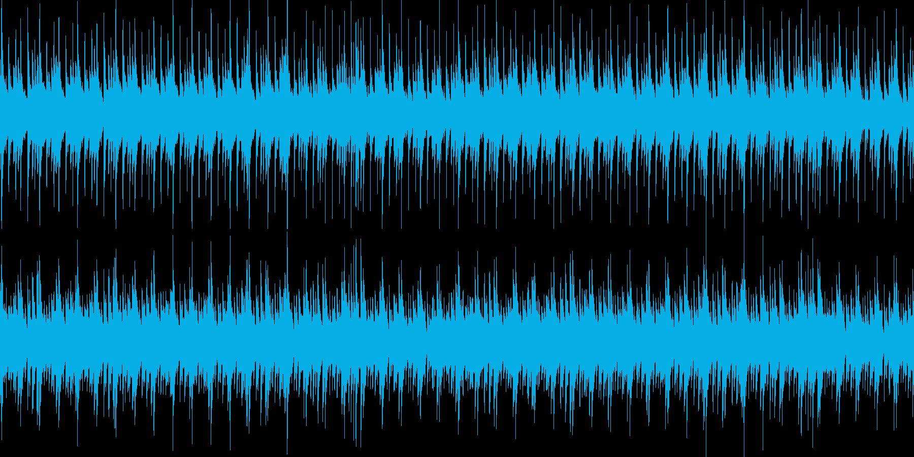 ゆったりしたループ可のBGMの再生済みの波形