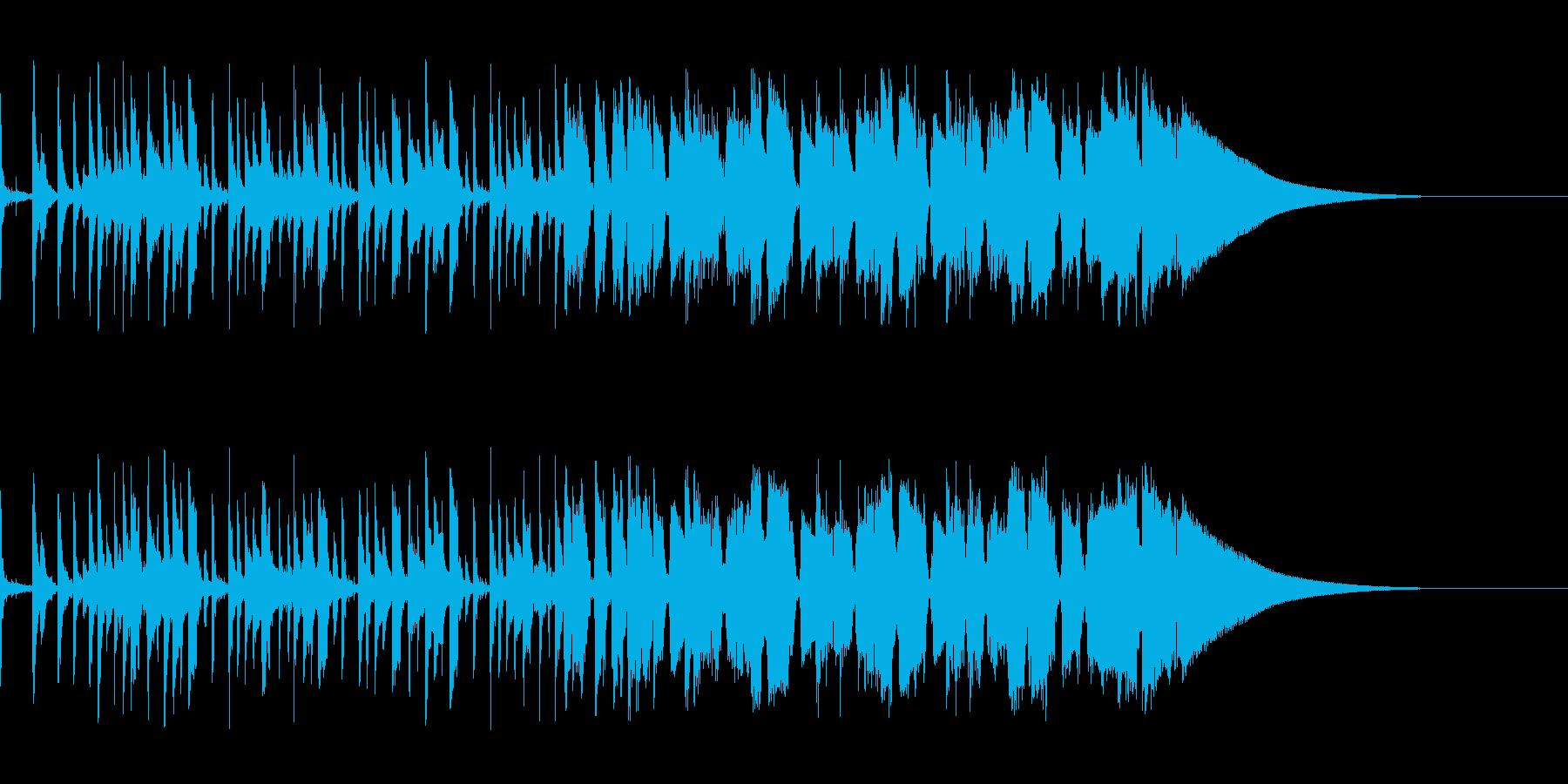 【生音】ノリノリなギター&ベースのポップの再生済みの波形