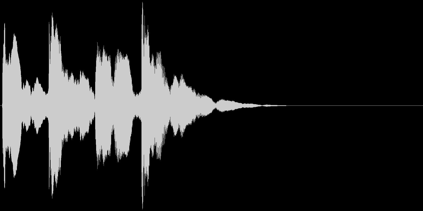 ピンポンパンポン↓(チャイム、呼び出し)の未再生の波形
