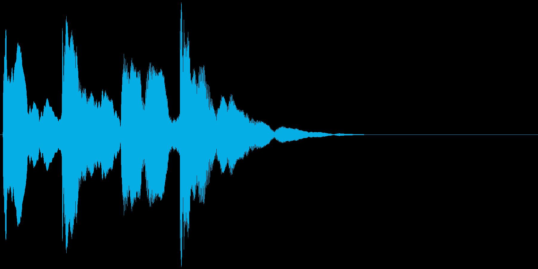 ピンポンパンポン↓(チャイム、呼び出し)の再生済みの波形