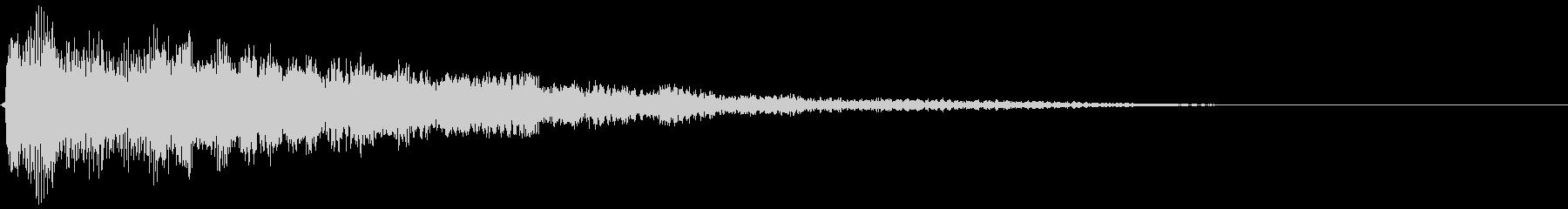 テロップ紹介(ピアノとシンセ:バン)5の未再生の波形