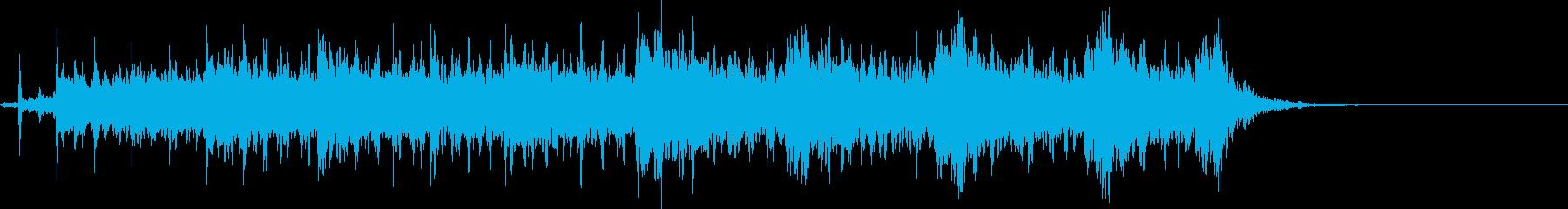 不穏なBGMの再生済みの波形