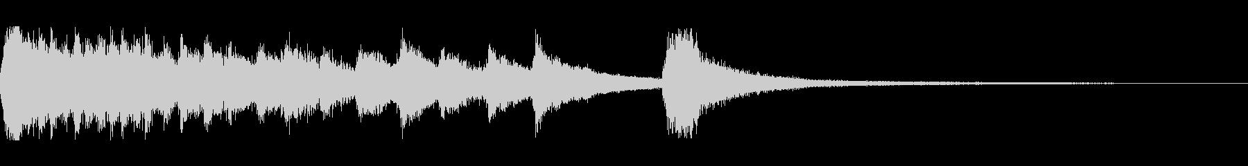 琴とピアノの和風のジングルの未再生の波形