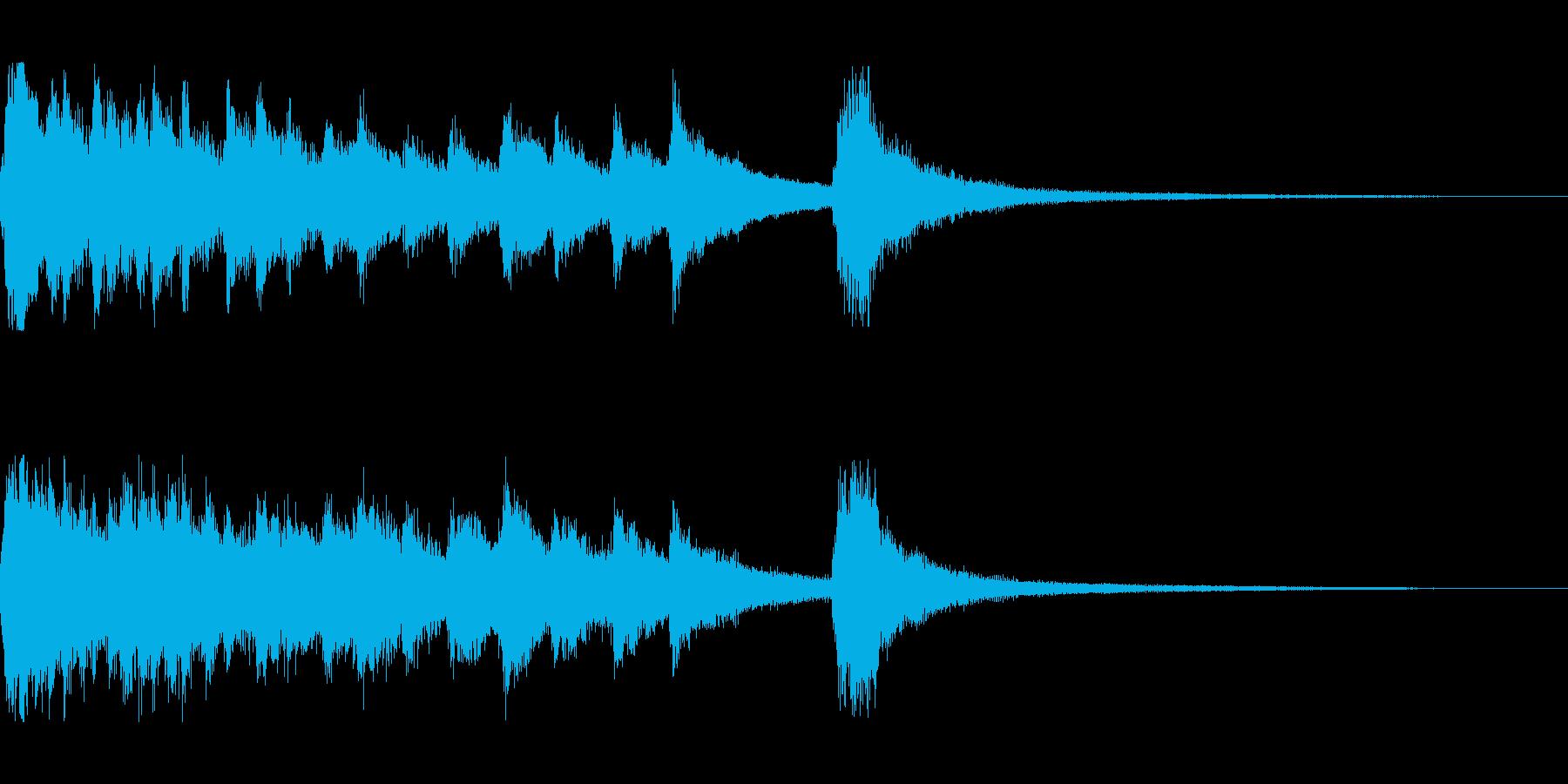 琴とピアノの和風のジングルの再生済みの波形