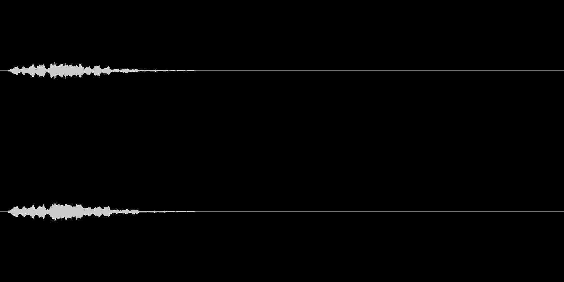 テロップの音・決定音・テローンテローンの未再生の波形