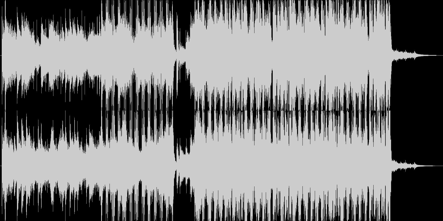 ジングル - キラキラなポップスの未再生の波形