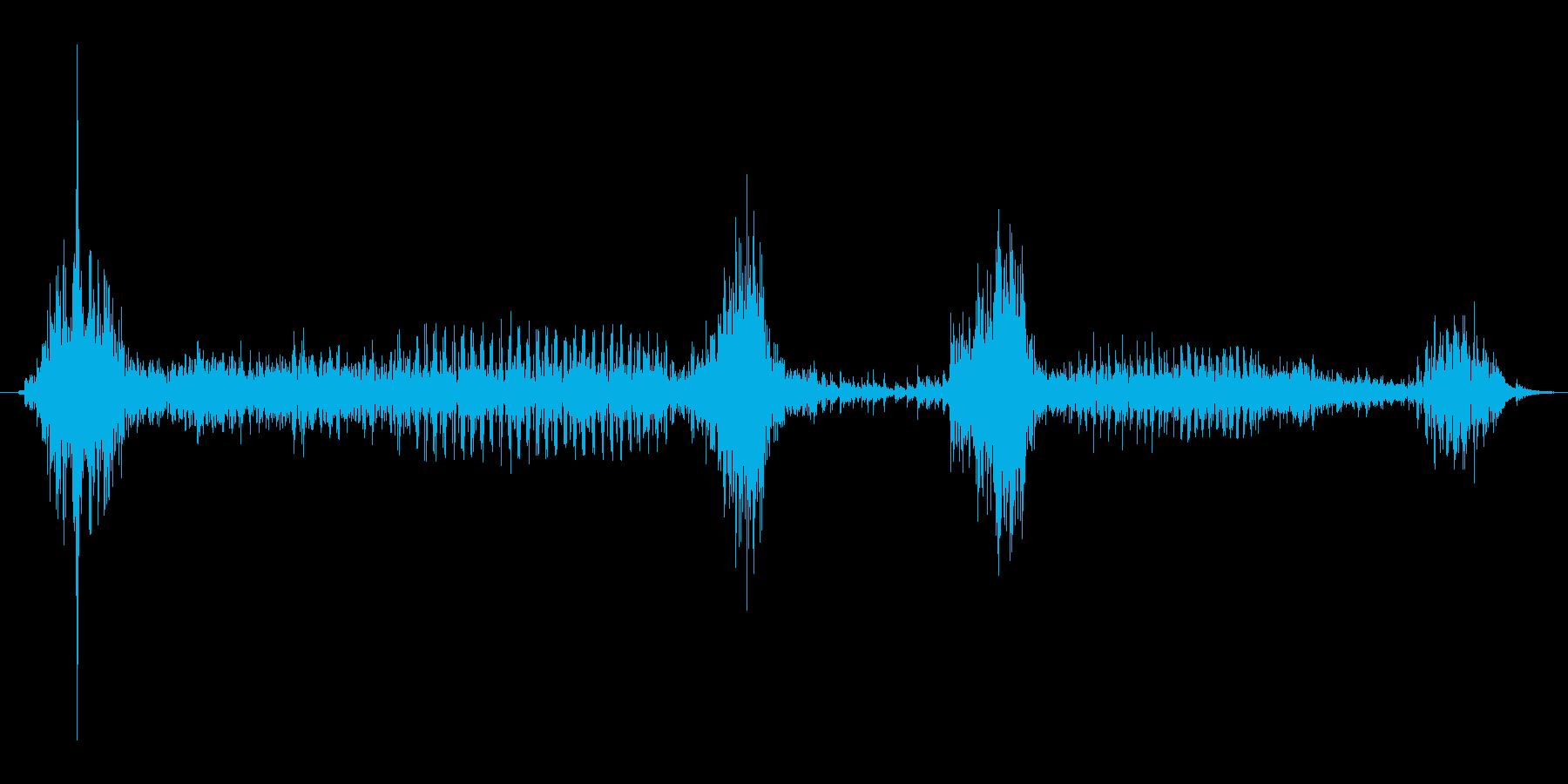 風邪の時の咳4 ゲホッゲホッの再生済みの波形