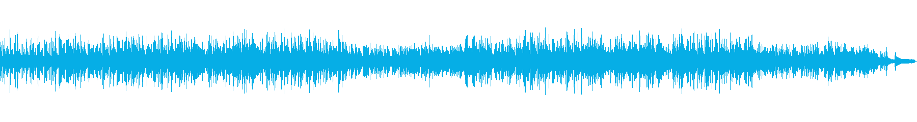 しっとり落ち着いたピアノバラードの再生済みの波形