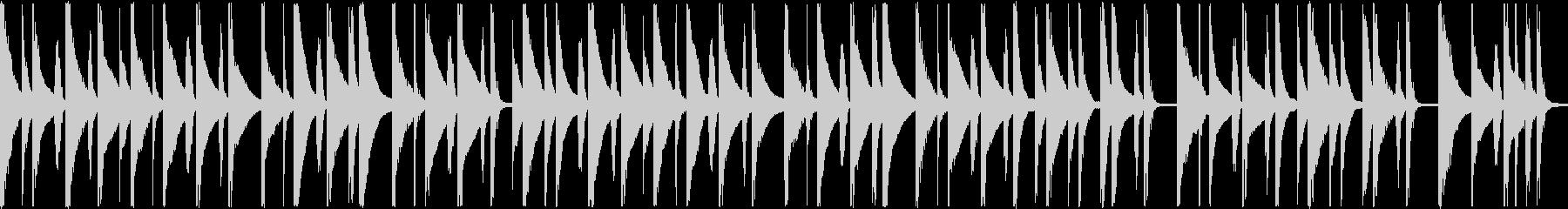 ほのぼの系マリンバショートループBGMの未再生の波形
