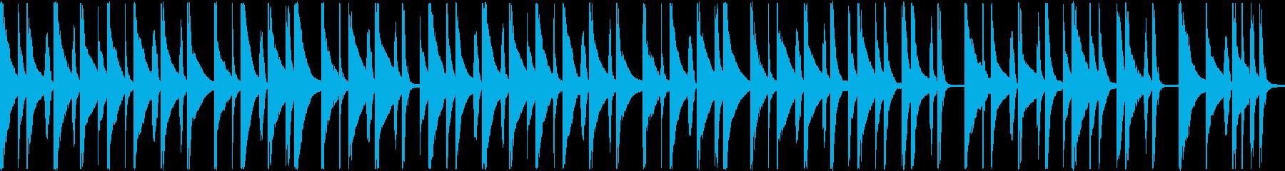 ほのぼの系マリンバショートループBGMの再生済みの波形