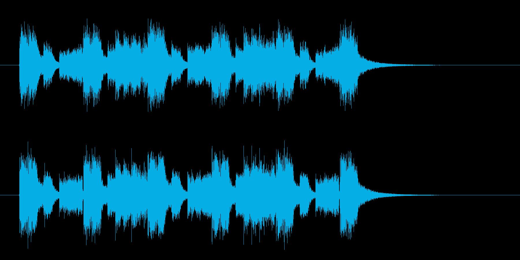 威圧感のあるギターロックの再生済みの波形
