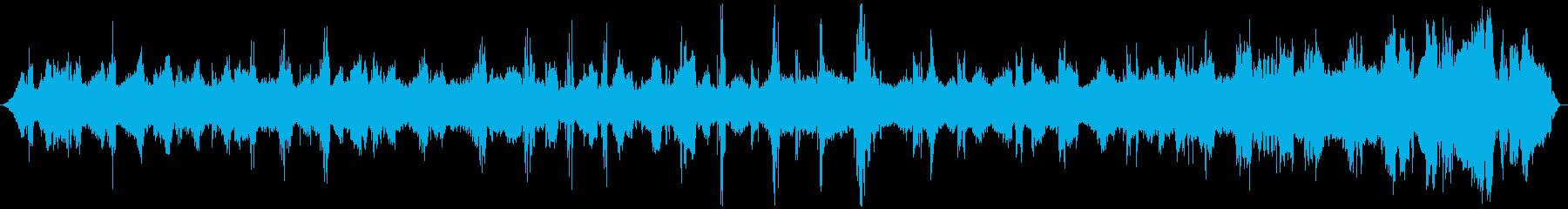 ミーンミーン 北海道の蝉 音景色 その2の再生済みの波形