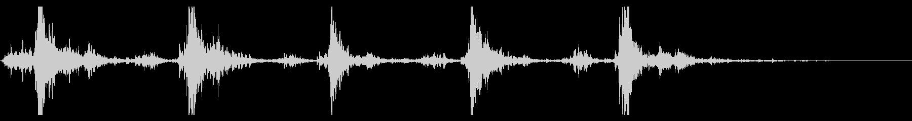シャン×5(鈴の音)の未再生の波形