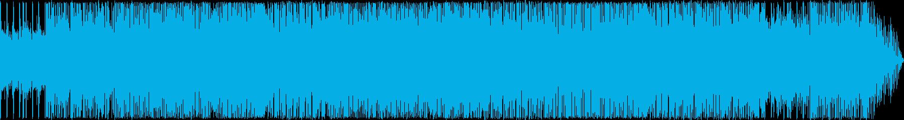 ハイテンションなハードロックの再生済みの波形