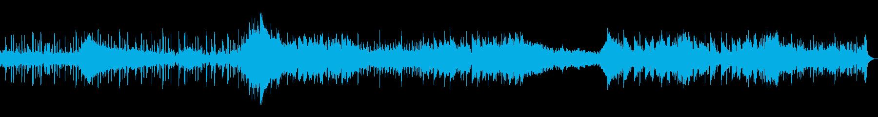 幻想的な自然をイメージしたゆったりな曲の再生済みの波形