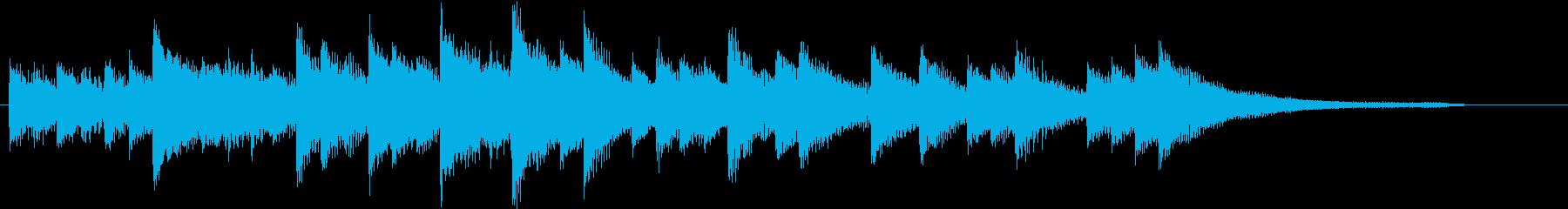 3連符柔らかいメロディの春ピアノジングルの再生済みの波形