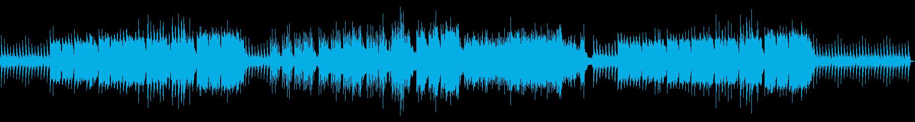 寂しげなインストの再生済みの波形