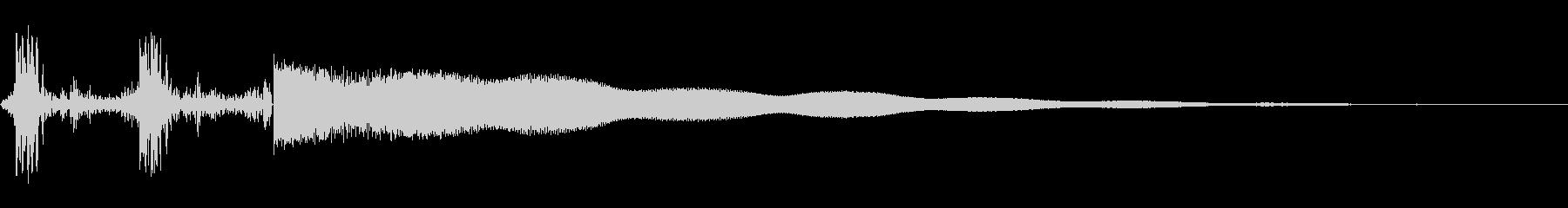 シンプルなレジスター音の未再生の波形
