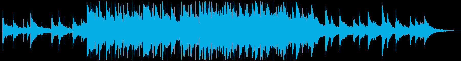 ポジティブで優しいピアノ演奏の再生済みの波形