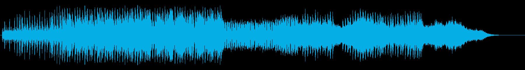 夜の街のマイナーエレクトリックポップスの再生済みの波形