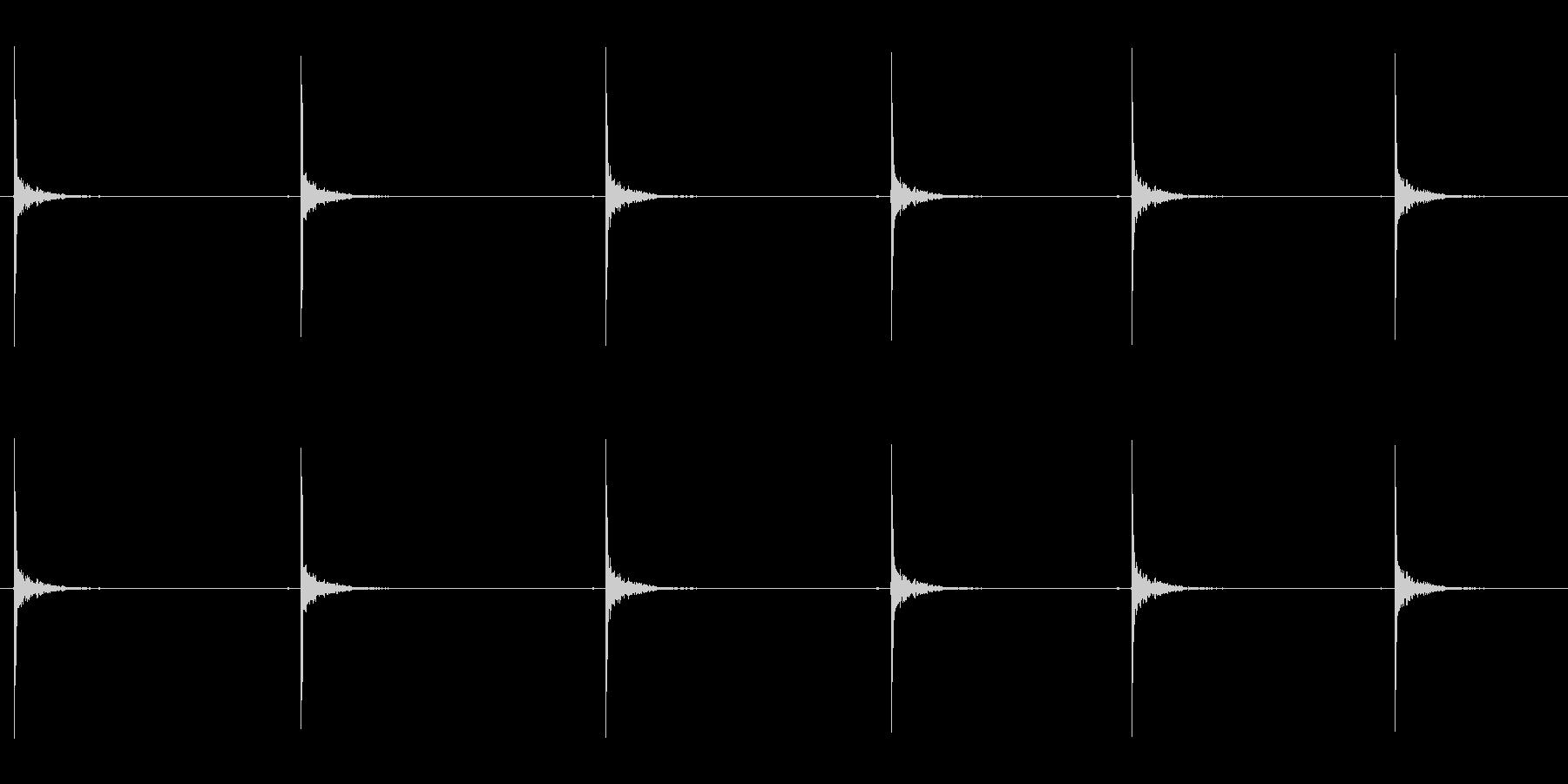 シングルボールバウンスの未再生の波形