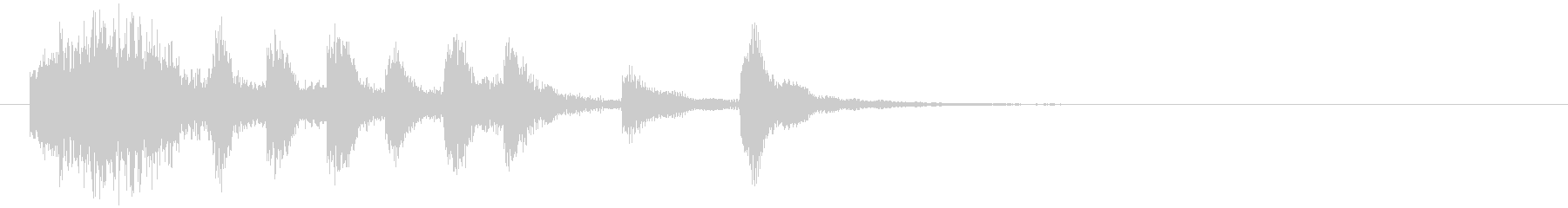 のほほんジングル036_かわいい-3の未再生の波形
