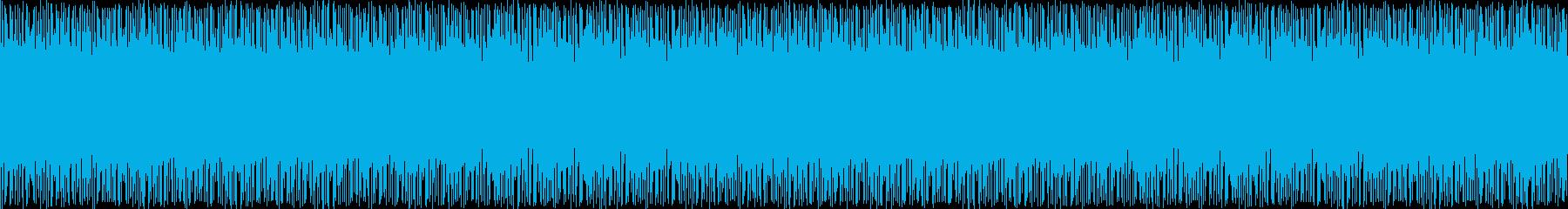 混乱と焦燥感のビートの再生済みの波形