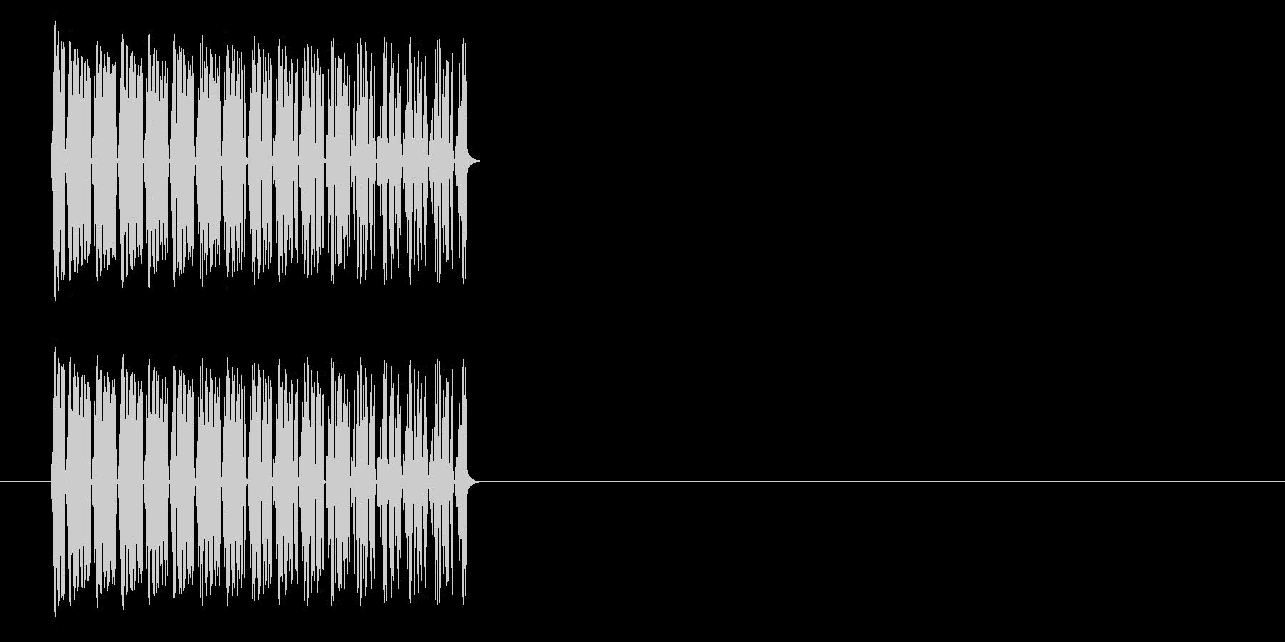 ファミコン風 下降音 落下音の未再生の波形