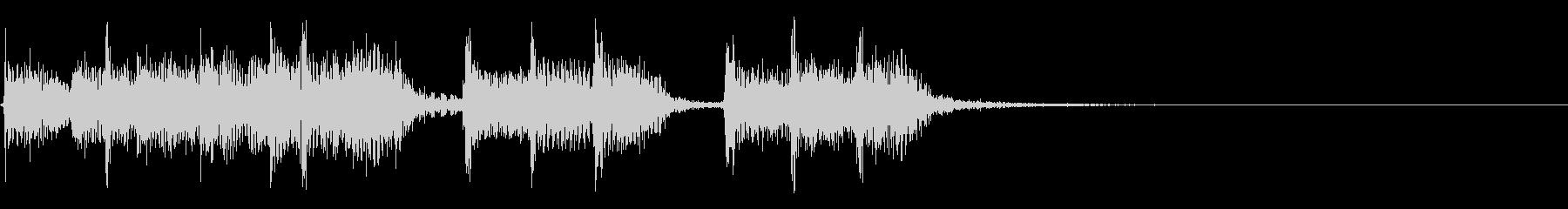 インパクトあるロックなジングル16の未再生の波形