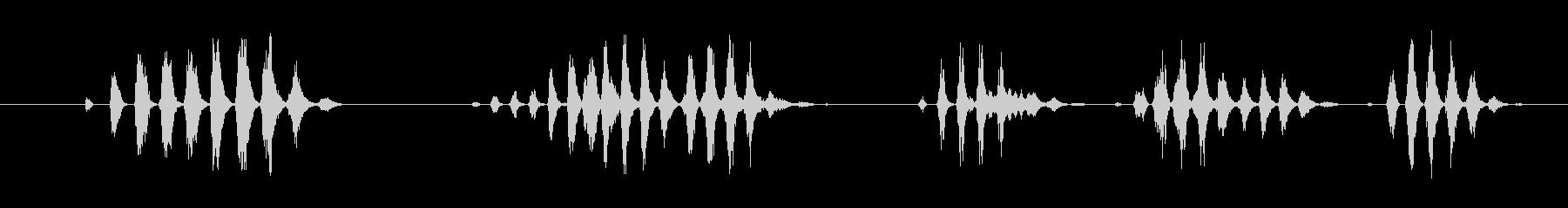 特撮 ガラガラ通知02の未再生の波形