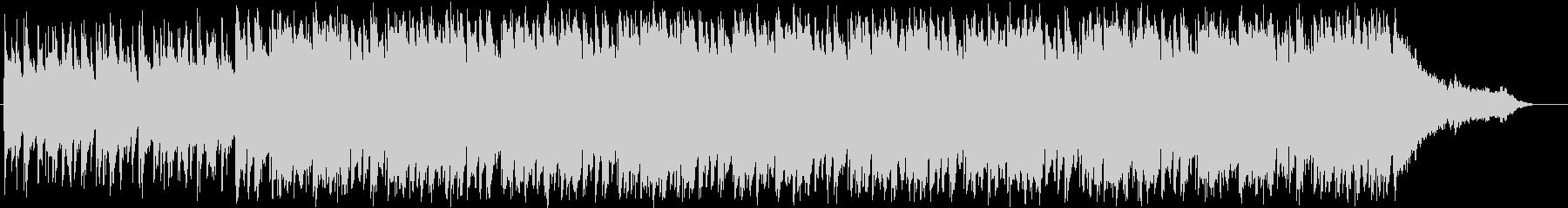 軽快、パワフルなアコースティックBGMの未再生の波形