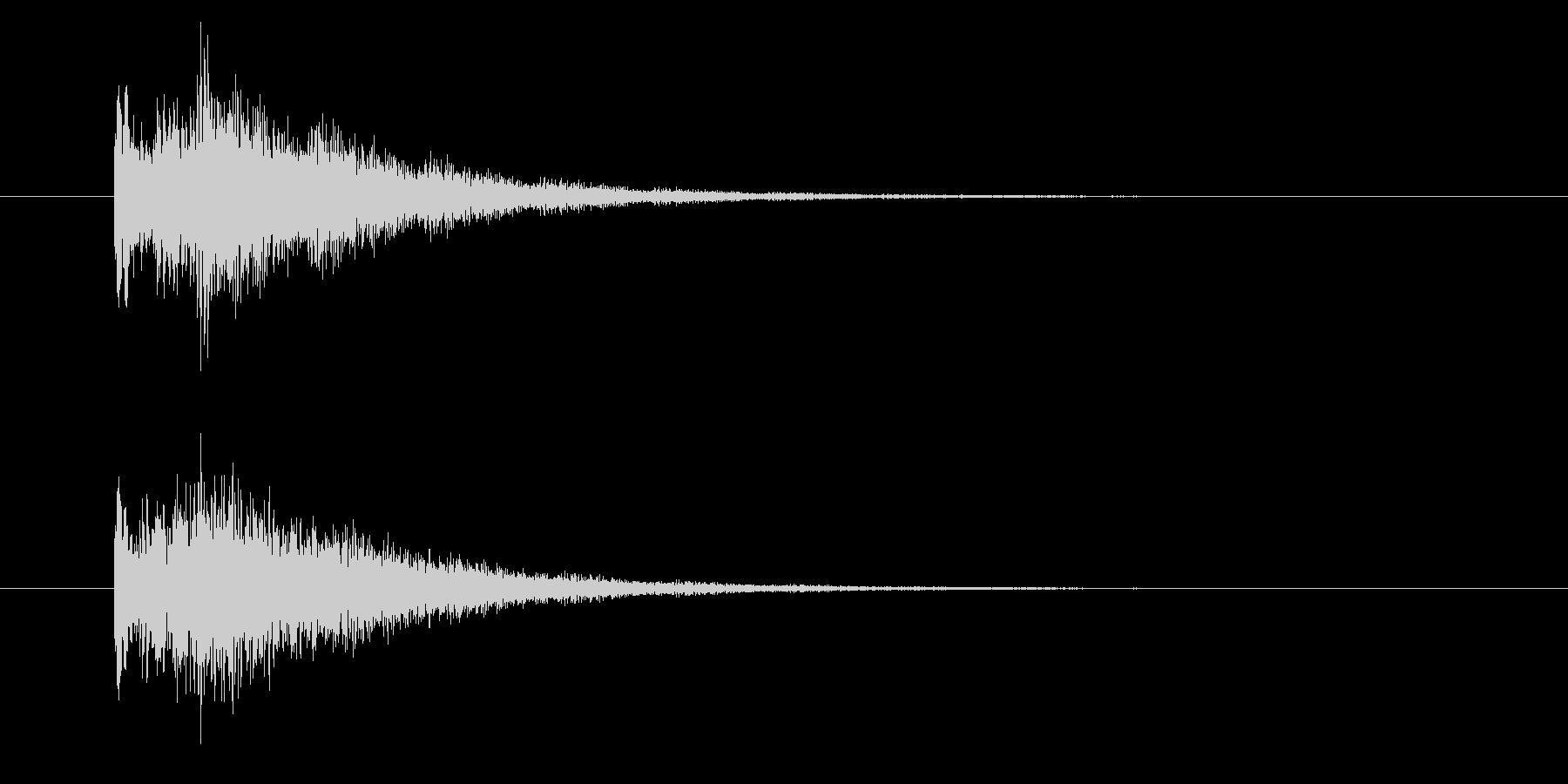 レベルアップ/上昇/成長/キラキラポップの未再生の波形