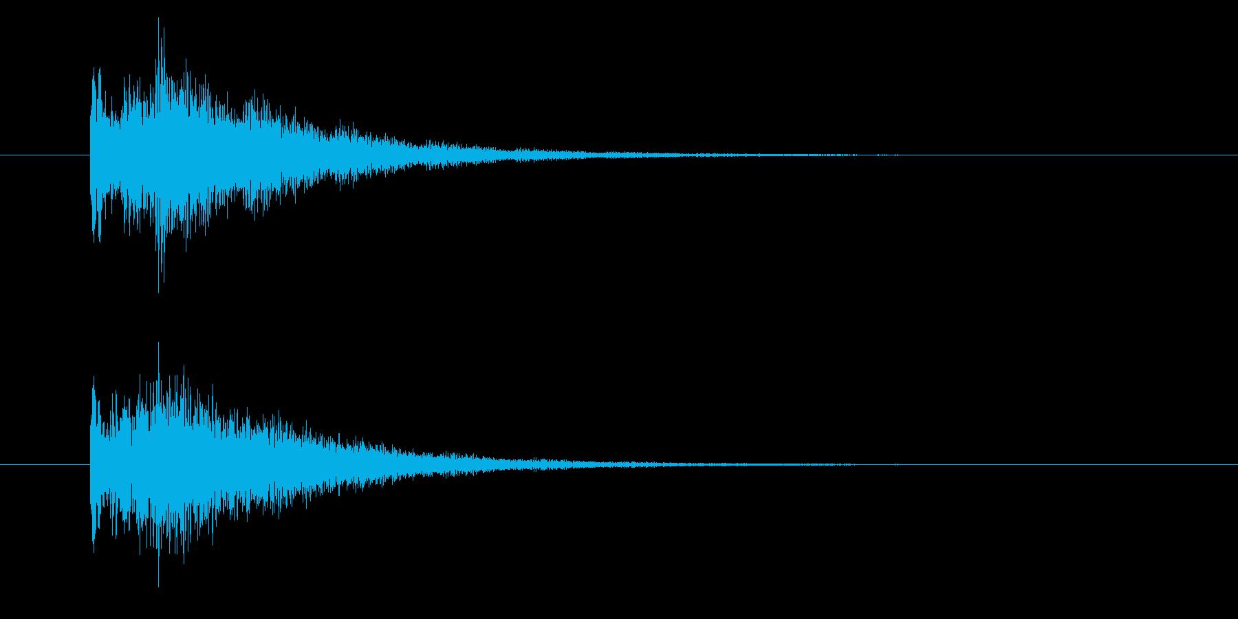 レベルアップ/上昇/成長/キラキラポップの再生済みの波形
