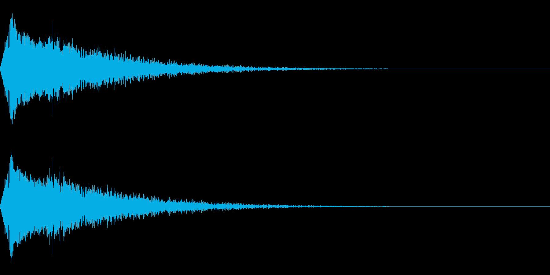 場面転換/キラキラ/流れ星/映像・動画の再生済みの波形